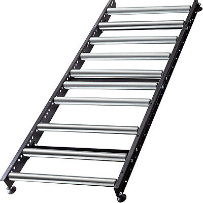 Vevor Roller Gravity Conveyor W1.5 Galvanized Steel Roller 5 Long 26 Wide