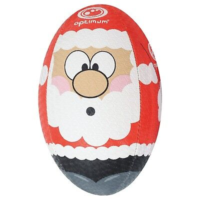 Optimum Mini Rugby Ball - Christmas Santa