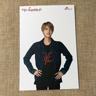 BTS JIN [ SKT Official Postcard Photocard Limited ] / New, Rare / + Gift