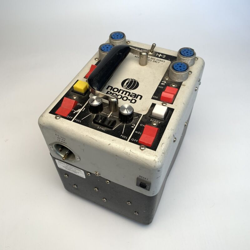 Norman P800-D Strobe lighting Power Supply Power Pack Tested And Working