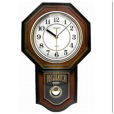 Pendulum Wall Clock Quartz Movement Modern Antique Vintage School House Style