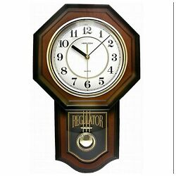 Pendulum Wall Clock Quartz Movement Modern Antique Vintage School House Style