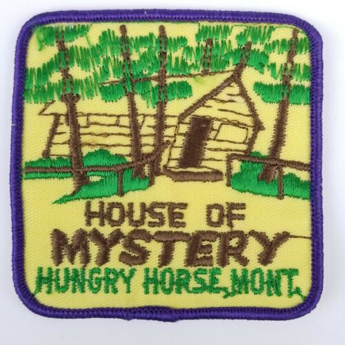 Hungry Horse Montana House Of Mystery Vintage Patch