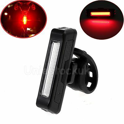 LED Bike Bicycle Cycling Rear Front Tail Light Red Headlight Rechargeable Lamp