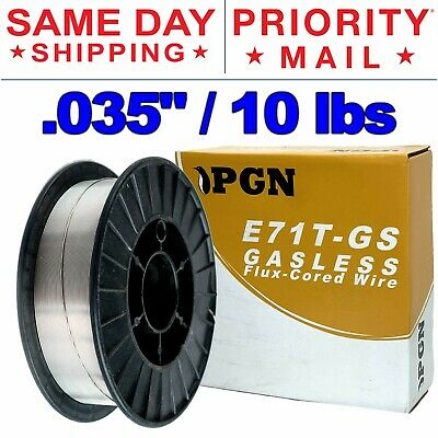 E71t-gs .035 0.9mm - Gasless Flux Core Mild Steel Mig Welding Wire 10 Lbs Spool