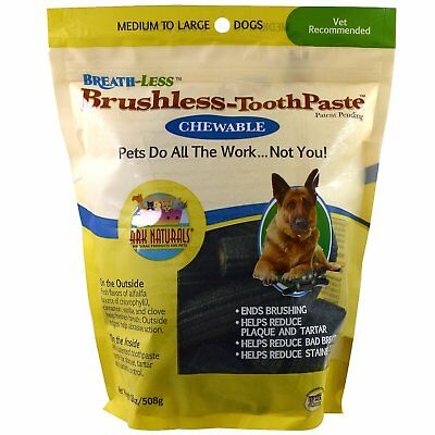 (Ark Naturals  Breath-Less  Brushless Toothpaste  Chewable  Medium To Large Dogs)