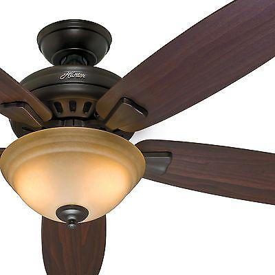 54  Hunter Energy Star Ceiling Fan  Premier Bronze   Light Kit And Remote