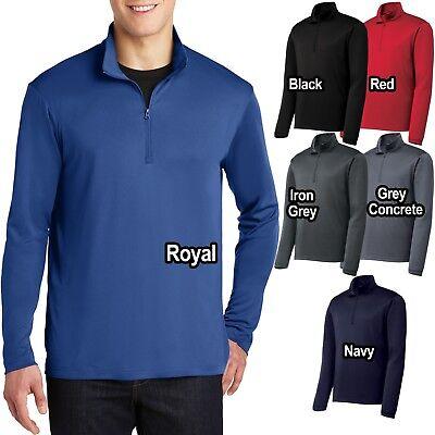 Mens 1/4 Zip Wind Shirt Lightweight Performance Pullover Jacket XS-XL 2X, 3X, 4X (1/4 Zip Windshirt Jacket)