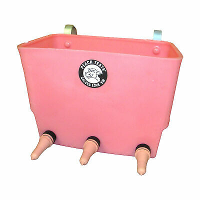 Peach Teats Pt-3 3 Nipple Baby Calf Livestock Milk Feeding Bucket 4.5 Gallon