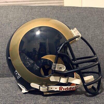 ST. LOUIS RAMS NFL Riddell ProLine Full Size AUTHENTIC Football Helmet Louis Rams Football Helmet