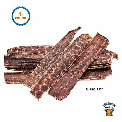 "Beef Esophagus for Dogs 1 Pound 12"" All Natural Meat Jerky treats"