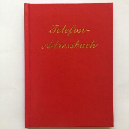 Telefonbuch Adressbuch Telefonregister, A-Z, 12x17 cm, rot, Hardcover