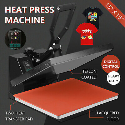 15 X 15 Digital Heat Press Teflon Coated Clamshell T-shirt Transfer Machine