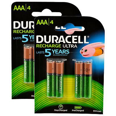 8x Duracell Recharge Ultra Akku AAA HR03 850 mAh Precharged 8 Stück