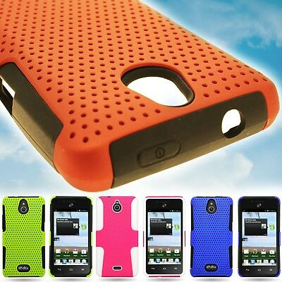 Protective Hard Mesh Hybrid Armor Phone Cover Case for Huawei Ascend Plus H881C](phone cases for huawei h881c)