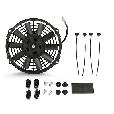 9 INCH 12V Universal Electric Radiator Cooling Cooler Intercooler Fan & Fittings