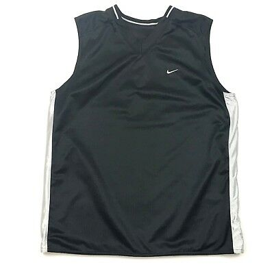 Nike Mens Sleeveless Jersey Size M REVERSIBLE V-Neck Ribbed Satin Athleisure