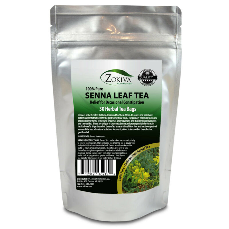 Senna Tea 30 Bags 100% Natural Herbal Laxative/Cleanser and Weight Management