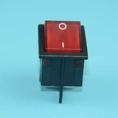 Canal R Series Red 20a 16a Green Illuminated Rocker Switch Double Pole