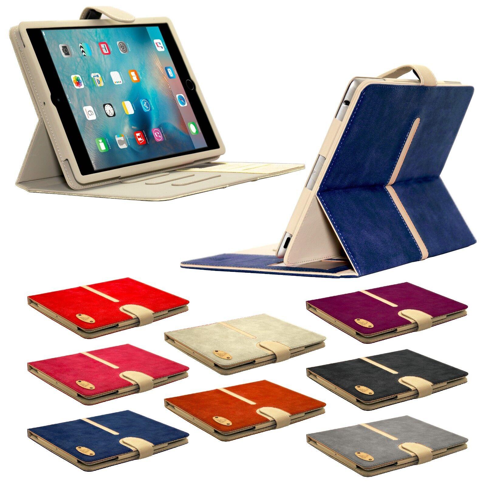 Apple iPad Genuine Suede Leather Flip Case Wallet Smart Stan