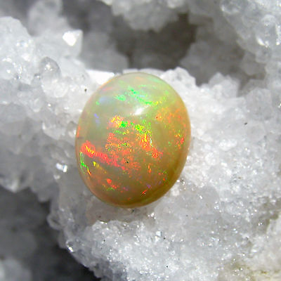 Opal Creme (äthiopien opal oval cabochon, opak creme rainbow, 5,2ct.)