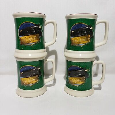 Lot of 4 Collector Set Of Polar Express Creamy Hot Chocolate Coffee Mugs Cups