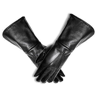 MEN'S MEDIEVAL RENAISSANCE COSTUME COSPLAY SWORDSMAN UNLINED LEATHER GLOVES - Gothic Costumes For Men