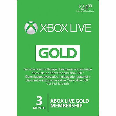 For sale Microsoft 3 Month Xbox Live Gold Membership Subscription Quick Delivery!