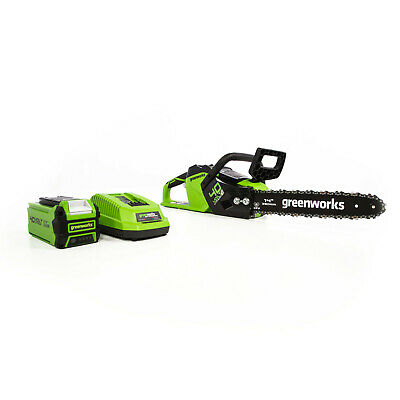 Greenworks 14-Inch 40V Chainsaw 2.5Ah Battery and Charger Included (2012802)