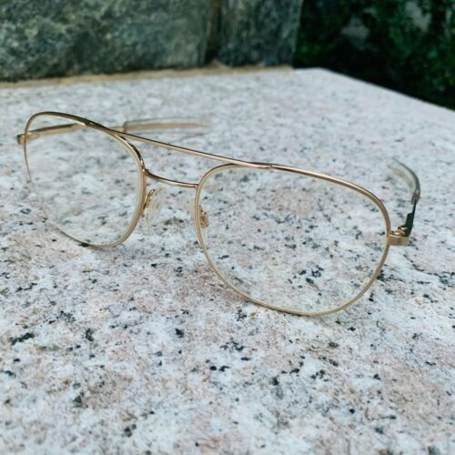VINTAGE Randolph Engineering Aviator Gold FRAME 5 1/2 USA Italy *Scrip Lenses
