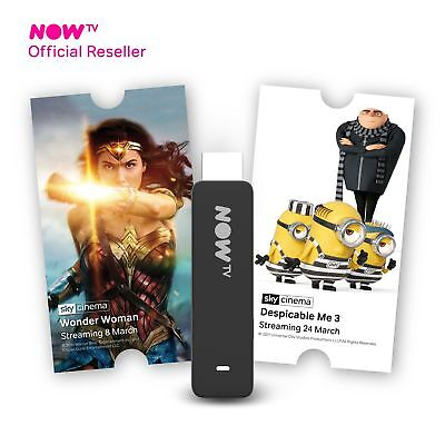NOW TV Smart Stick with HD & Voice Search with 1 Month Cinema Pass Brand New