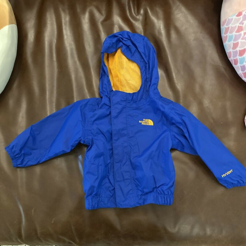 The North Face Baby Rain Jacket Blue Boys Hyvent • 6-12 Months Spring Fall Zip