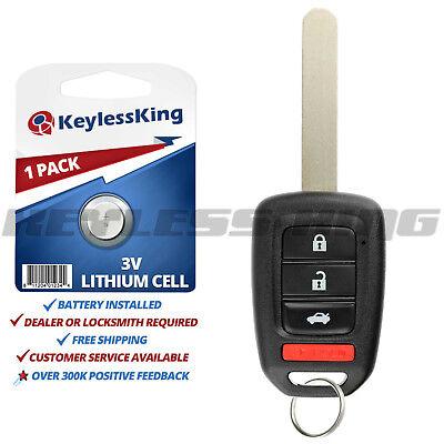 Keyless Entry Remote Car Key Fob for Honda Accord CR-V Civic HR-V MLBHLIK6-1T