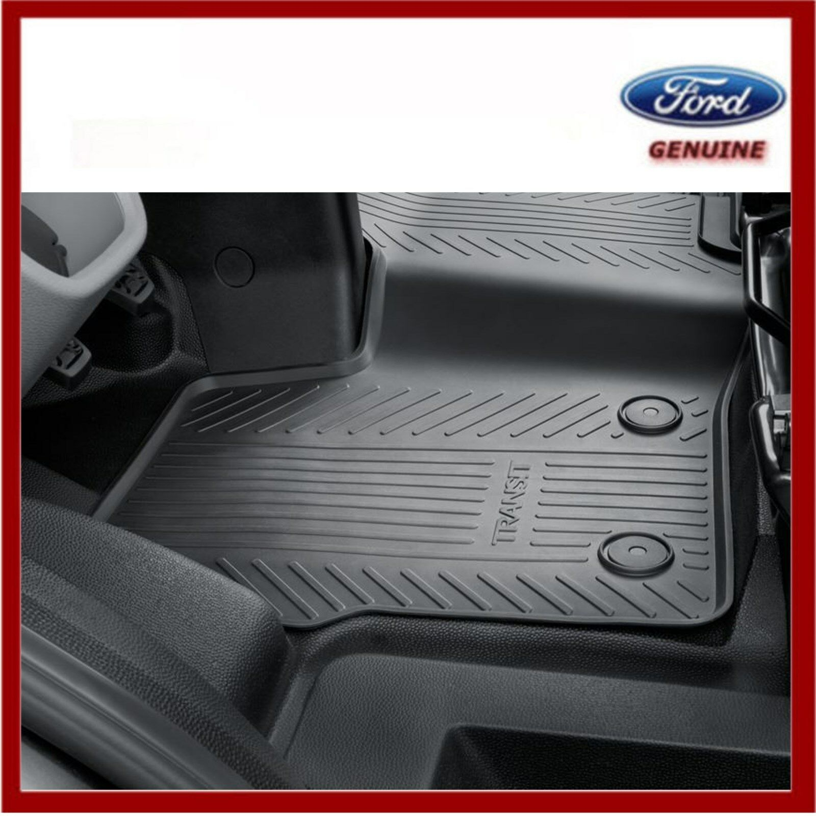 Car Parts - Genuine Ford Transit Custom 2012 Onwards Front Rubber Floor Mats. New! 2047030