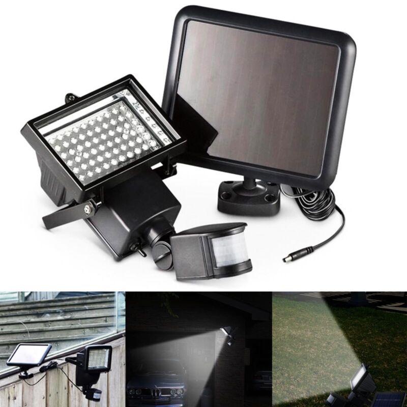 120 LED Bright Solar Powered PIR Sensor Flood Security Light Outdoor Garden