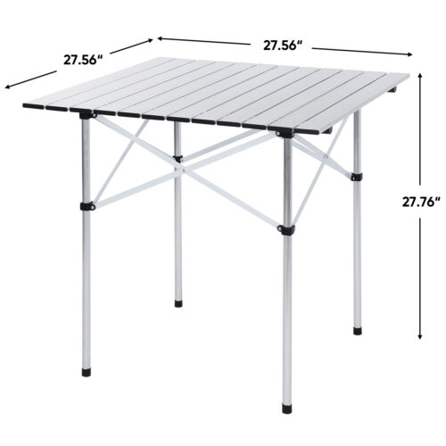 Folding Camping Table Portable Ultralight Aluminum Table with Storage Bag Camping & Hiking