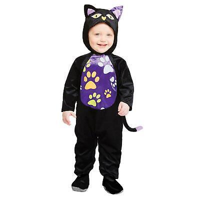 Kleinkinder Hexen Schwarze Katze Süß Halloween Strampler Mädchen Kostüm - Hexen Kostüm Kinder Katze