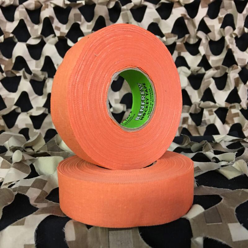 NEW Renfrew Cloth Colored Hockey Tape Paintball Tank Grip - Orange (2 Pack)