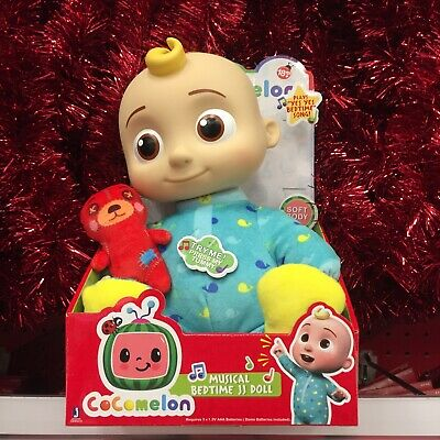 Cocomelon Musical Bedtime JJ Doll with Plush Tummy and Roto Head New in Box