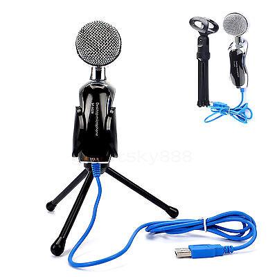 Professional Condenser Usb Microphone Mic Audio Studio Sound Recording + Stand