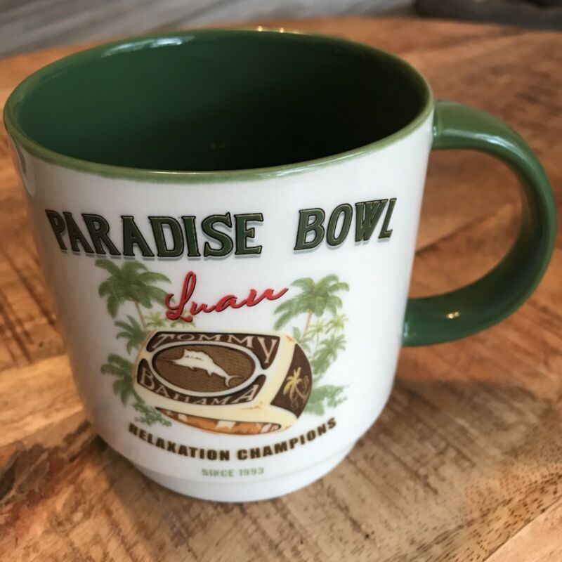 """Tommy Bahama Mug """"Paradise Bowl""""Green Large  Luau Relaxation Champion"""