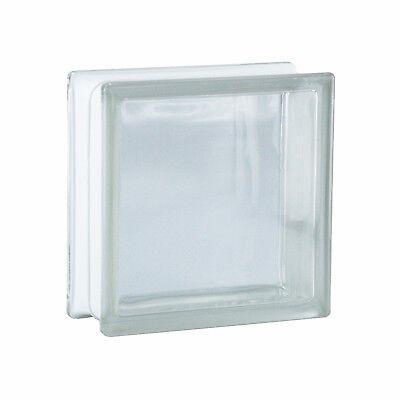 1 Paket (= 6 Stück) Glasbausteine Glasbaustein Vollsicht Klar 19x19x8cm