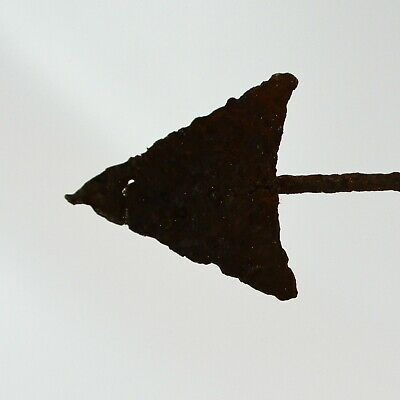 Antique Vintage Rustic Weathered Arrow Weather Vane Cast Iron Directional Arrow