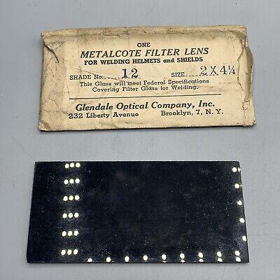 Collectors Dream- Vintage Glendale Optical Metalcote Filter Lens Welding Helmet