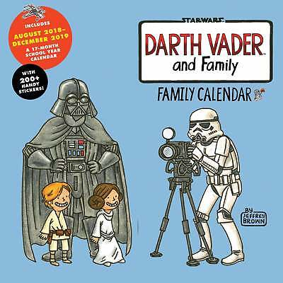 Darth Vader and Family Planner Wall Calendar 2019 Star Wars Entertainment