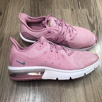 NIKE Air Max Sequent 3 Running Shoes 922885-601 ELEMENTAL PINK GS Youth Size 5Y
