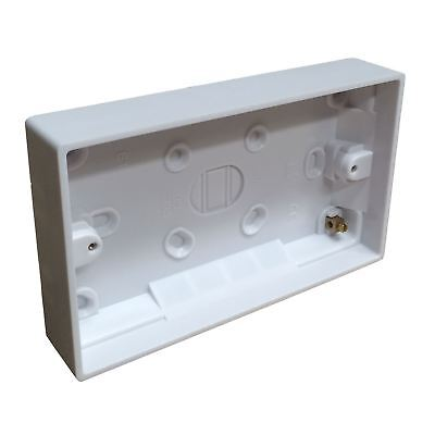 Surface Mounted Back Box 25mm Wall Pattress Double 2 Gang Electrical Socket Surface Mounted Box