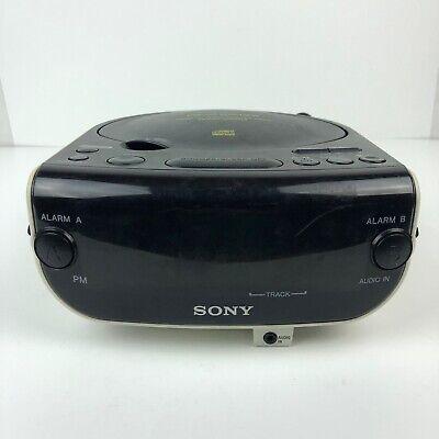 Sony ICF-CD814 Dream Machine Stereo CD Clock Radio Dual Alarm Aux In Jack HG12