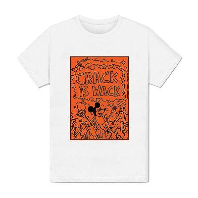 T-shirt Homme - Crack Is Wack keith haring Pop art peinture dessin 1980 usa mode