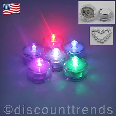 3 6 12 24 36 LED Submersible Waterproof Wedding Decoration Party Vase Tea Light